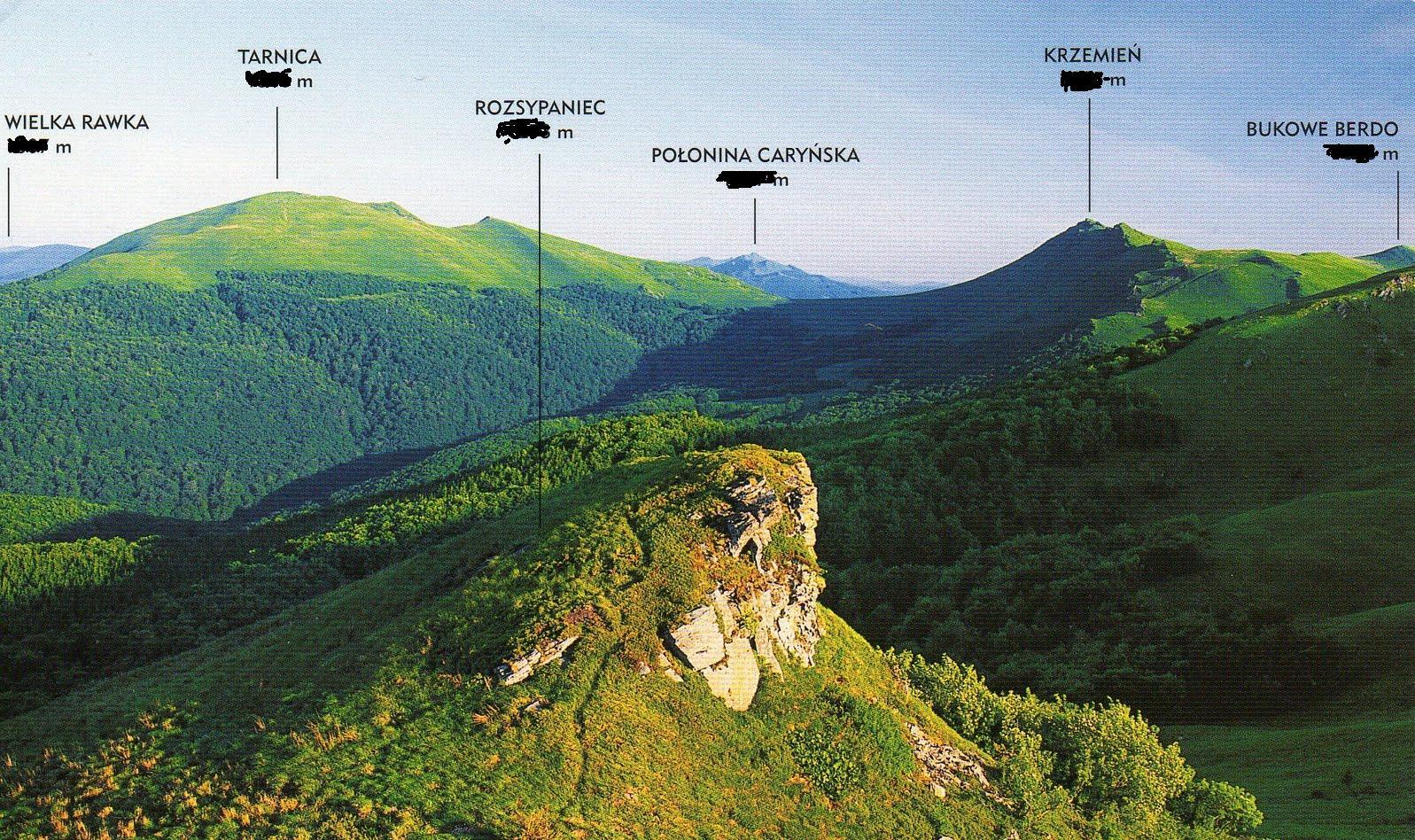 Szczyty - Bieszczady