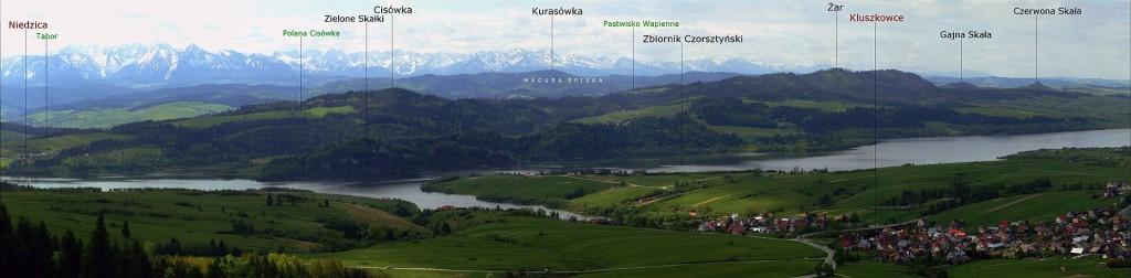 Pieniny Spiskie - panorama